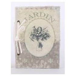 Libreta cartón lino 21X15 80 hojas