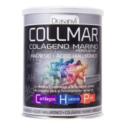 Collmar Colageno marino hidrolizado + magnesio + acido hialuronico 300g drasanvi