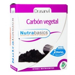 Carbon vegetal 60 caps. nutrabasics drasanvi