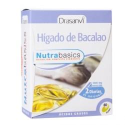 Higado de bacalao 60 perlas nutrabasics drasanvi