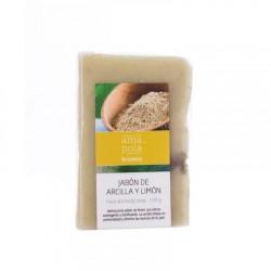 Jabón de arcilla y limón 100g Amapola bio cosmetics