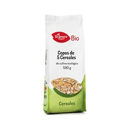 Copos de 5 cereales bio 500g el granero integral
