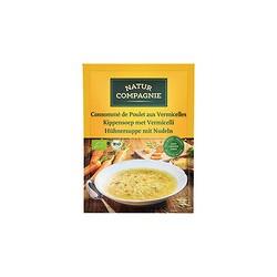 Sopa de pollo con fideos bio 40 g natur compagnie