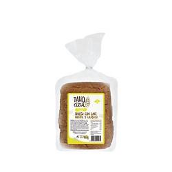 Pan de molde integral omega con lino, girasol y calabaza 400g taho cereal