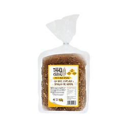 Pan de molde integral con maíz, cúrcuma y pipas de girasol 400g taho cereal