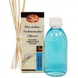 Recambio del mikado ropa limpia 200 ml + palos laboratorio sys