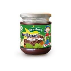 Crema de algarrobas y avellanas bio 200 g naturgreen