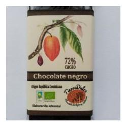 Chocolate negro 72% cacao ecològico 100g Tierra dulce