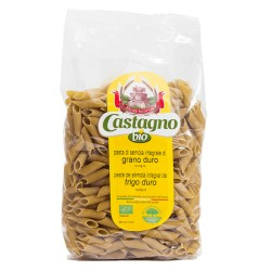 Macarrón integral ecológico de trigo duro 500 g castagno