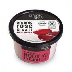 Exfoliante corporal con rosas 250 ml organic shop