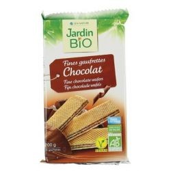 Waffers de chocolate 200 g jardin bio