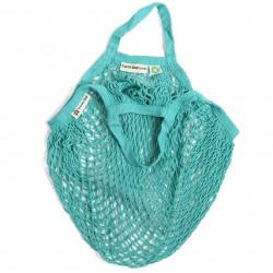 Bolsa de algodon ecologico de red asa corta aqua turtle bags