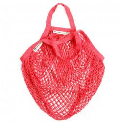 Bolsa de algodón ecologica de red asa corta para granel roja turtle bags