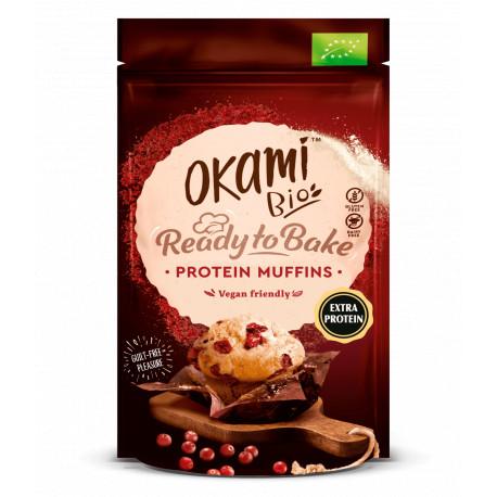Muffin de proteina de guisante y arandano 135 g okami bio