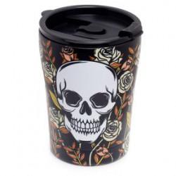 Taza térmica para llevar calaveras y rosas 300 ml