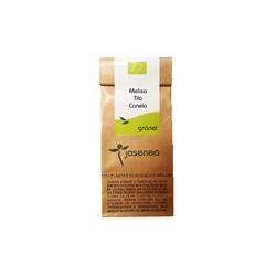 Infusión bio melisa, tila y canela granel 25 g josenea bio