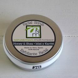 Exfoliante facial miel y karité 120 g naturalmente mediterraneo