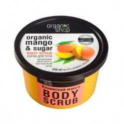 Exfoliante corporal de mango 250 ml organic shop