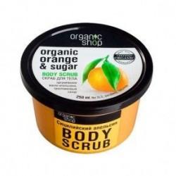 Exfoliante coporal de naranja 250 ml organic shop