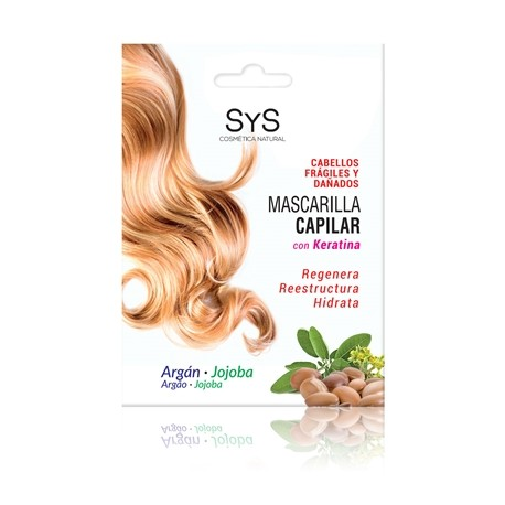 Mascarilla capilar argán y jojoba cob keratina 20 ml sys