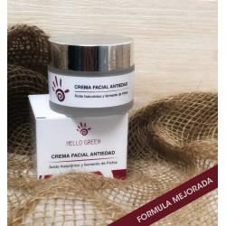 Crema facial antiedad con ácido hialurónico 50 ml hello green