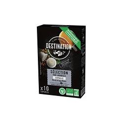 Cápsulas de café molido arábica bio 55 g 10 caps. destination