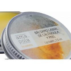 Bálsamo labial de caléndula y miel 15ml Amapola bio cosmetics