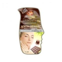 Mascarilla facial de chocolate y manteca karité 15ml